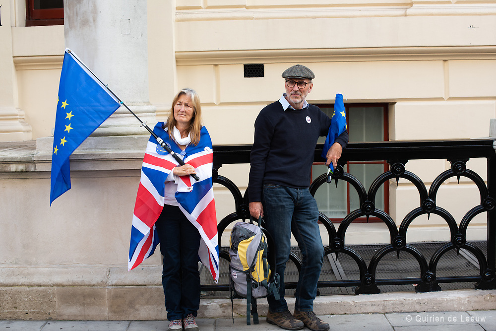 Remainers of all over the UK came to London to support the protest against Brexit