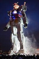 """Gundam was series of Japanese anime created by Sunrise Studios that featured giant robots called """"Gundam.""""  An eighteen metre tall statue of the title robot was installed at Odaiba, Tokyo's landfill island, in August 2009."""