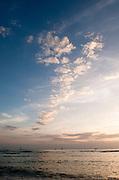 A beautiful cloud formation at sunset from Waikiki Beach.