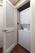 White Stacked Washer and Dryer