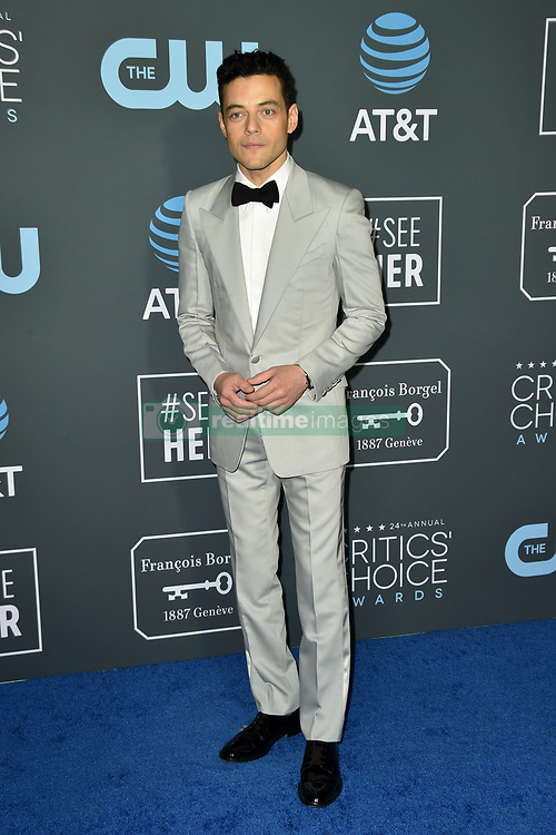 Rami Malek attends the 24th annual Critics' Choice Awards at Barker Hangar on January 13, 2019 in Santa Monica, CA, USA. Photo by Lionel Hahn/ABACAPRESS.COM