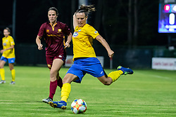 Alexis Rienks of Cadiff Met and Tjasa Tibaut of ZNK Pomurje  during football match between ZNK Pomurje and Cardiff Met in 1st Round of WUCL qualifying 2019/20, on Avgust 7, 2019 in Fazanerija, Murska Sobota, Slovenia. Photo by Blaž Weindorfer / Sportida