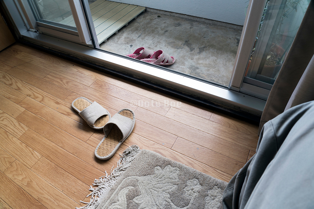 slippers for indoors and slippers for outdoors Japan