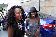13 September-Brooklyn, New York: Michelle Alexander, General Motors and Sheila Marmon, Mirror Digital attend the Essence Street Style Block Party held at The Dumbo Archway Under the Manhattan Bridge on September 13, 2015 in the DUMBO section of Brooklyn, New York.   (Photo by Terrence Jennings/terrencejennings.com)