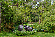 Sculpture by Henry Moore, Garden of Arne and Milly Glimche, Georgica Close Rd, East Hampton, NY, Parrish Art Museum Landscape Pleasure 2017 garden toure, Garden of Arne and Milly Glimche, Georgica Close Rd, East Hampton, NY, Parrish Art Museum Landscape Pleasure 2017 garden tour