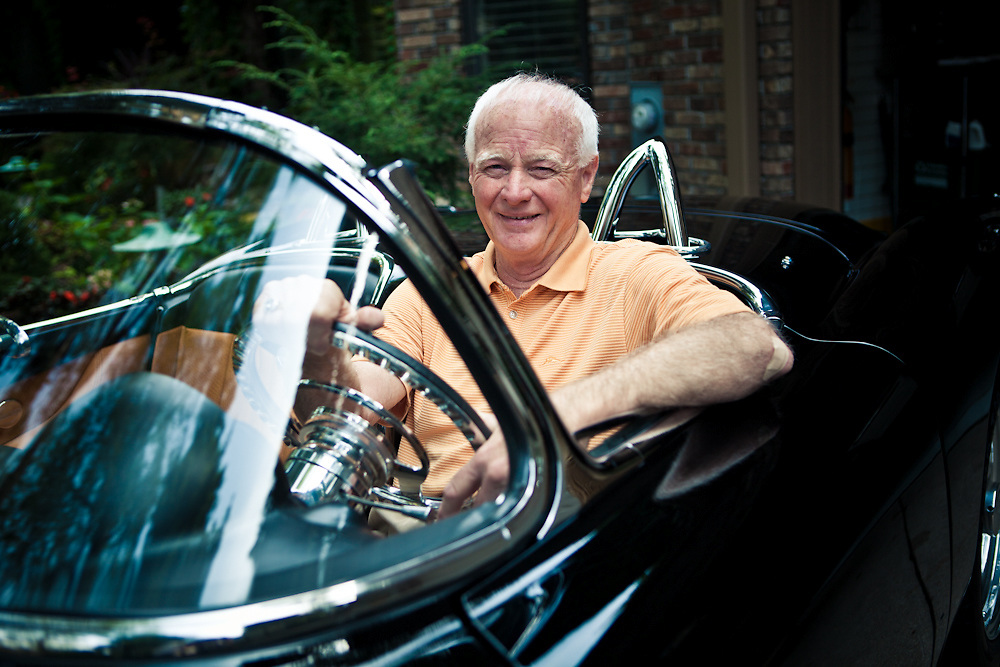 18 August 2011- Jack Keown and his Concept XP700 car are photographed for B2B Magazine at his home in Tomlinson Woods.