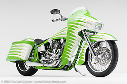 """""""OHC Luxury Liner,"""" built by Arlen Ness. This bike is the only Luxury Liner that was built on a Softail frame. Appears in book """"The King of Choppers,"""" by Michael Lichter and Arlen Ness and foreward by Sonny Barger."""
