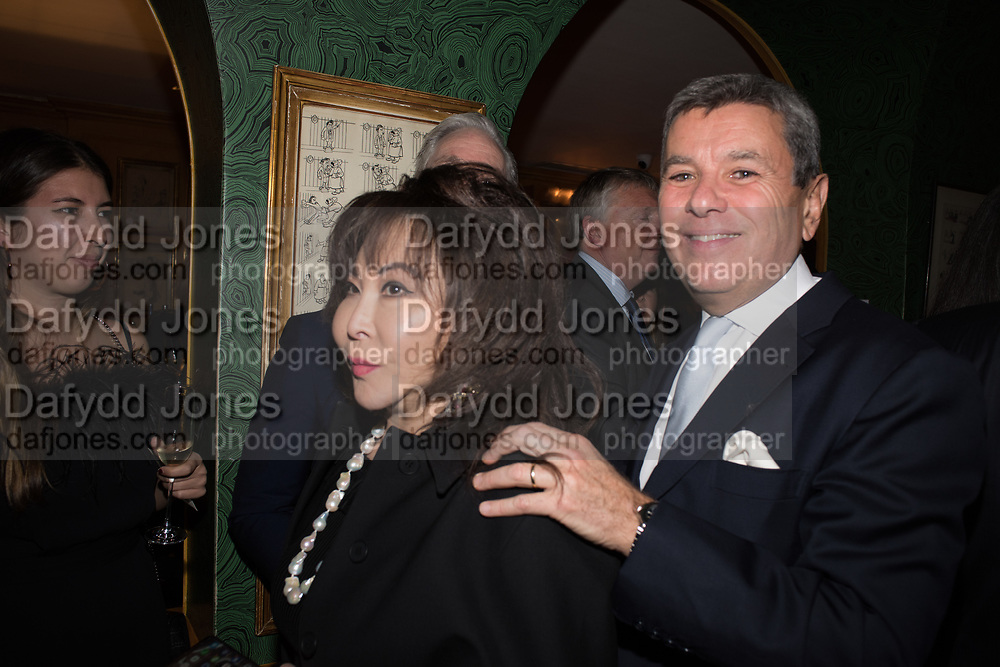 LADY DAVIES; PEDRO GIRAO, Pedro Girao of Christies and Duncan Macintyre of Lombard Odier host the last dinner at the Old Annabels. 44 Berkeley Sq. London. 15 November 2018