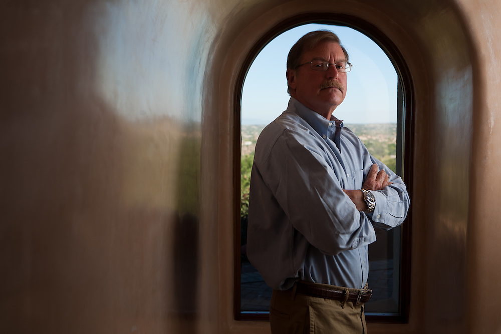 Former Merrill Lynch executive James A. Brown poses in the hallway of his Santa Fe New Mexico home on October 15, 2010...Credit: Steven St. John for The Wall Street Journal.ENRON