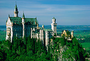 Schloss Neuschwanstein castle built in 1869 by King Ludwig II in Bavaria, Germany