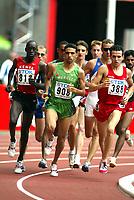 Friidrett, 23. august 2003, VM Paris,( World Championschip in Athletics),   Juan Carlos Higuero (388), Hicham El Guerrouj (908) og Paul Korir på 1500 meter