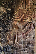 Relief in the tomb of Maia depicting her as the wet-nurse of the boy-king Tutankhamun