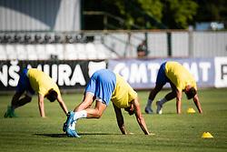 Players of NK Bravo warming up before football match between NS Mura and NK Bravo in 3nd Round of Prva liga Telemach 2021/22, on 31st of July, 2021 in Fazanerija, Murska Sobota, Slovenia. Photo by Blaž Weindorfer / Sportida