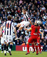 Photo: Mark Stephenson/Richard Lane Photography. <br /> West Bromwich Albion v Watford. Coca-Cola Championship. 12/04/2008. West Brom's Roman Bednar wins the ball