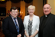 Richard Regan, Teresa Sweeney and  FR Kevin Keenan of Roscommon Citizen Information Service at the EFQM Ireland Excellence Awards ceremony in association with Fáilte Ireland and the Centre for Competitiveness at the Galway Bay Hotel . Photo:- Andrew Downes Photography / No Fee