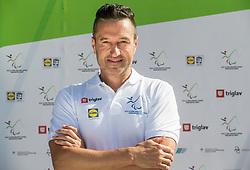 Gregor Doberšek, coach at Media day of athlete Tadej Enci, 400m runner, organised by ZSIS - POK, on June 5, 2017 in Stadium Ob Jezeru, Velenje, Slovenia. Photo by Vid Ponikvar / Sportida