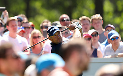 England's Lee Westwood and crowds during day two of the 2017 BMW PGA Championship at Wentworth Golf Club, Surrey.