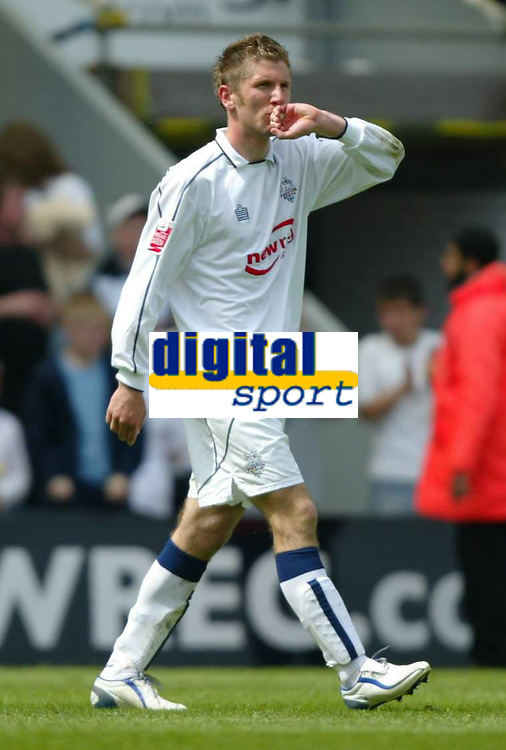 Photo: Chris Brunskill. Preston North End v Derby County. Play-Off Semi Final 1st Leg. 15/05/2005. Richard Cresswell celebrates Preston's second goal, although it was later credited to his team-mate Patrick Agyemang.