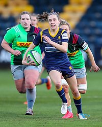 Abi Kershaw of Worcester Warriors Women breaks for the line - Mandatory by-line: Nick Browning/JMP - 20/12/2020 - RUGBY - Sixways Stadium - Worcester, England - Worcester Warriors Women v Harlequins Women - Allianz Premier 15s