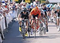 Sykkel<br /> 25.05.2011<br /> Foto: imago/Digitalsport<br /> NORWAY ONLY<br /> <br /> Bayern Rundfahrt 2011, 1. Etappe Pfarrkirchen-Freystadt, Sieger BOASSON HAGEN Edvald NOR (SKY) SKY PRO CYCLING GBR (L), SCHULZE Andre (CCC) CCC POLSAT POLKOWICE POL 2. Platz (R), HAUSSLER Heinrich GER (GRM) TEAM GARMIN CERVELO USA (3.Platz) <br /> <br /> Edvald Boasson Hagen vant etappen