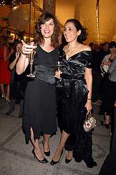 Left to right, JESSICA MORRIS and SERENA REES at a party to celebrate the 150th anniversary of the V&A museum, Cromwell Road, London on 26th June 2007.<br /><br />NON EXCLUSIVE - WORLD RIGHTS