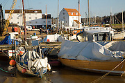 Boats near the Tidemill, Woodbridge, Suffolk, England