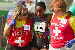 Beach to Beacon 10K , Margaret Wangaru, women's champion, , medical team responds to exhausted runner
