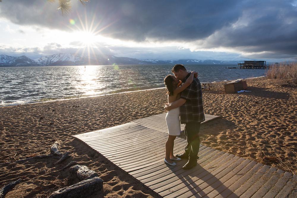 East Shore Lake Tahoe Engagement Session