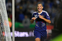 FOOTBALL - UEFA EURO 2012 - QUALIFYING - GROUP D - BOSNIA v FRANCE - 7/09/2010 - PHOTO GUY JEFFROY / DPPI - JOY KARIM BENZEMA