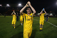 Photo: Pete Lorence.<br />Lincoln City v Bristol Rovers. Coca Cola League 2. Play off, Semi Final 2nd Leg. 17/05/2007.<br />Bristol Rovers salute their fans.