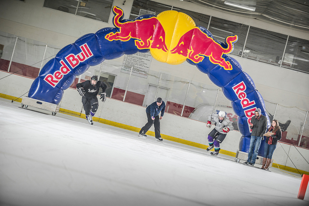 Particpants compete at Red Bull Crashed Ice at the Tampa Bay Skating Academy in Tampa Bay, FL, USA on 4  January 2014.