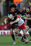 Watford, GREAT BRITAIN, Saracens, Richard HAUGHTON  running through with the ball, during the Pool 4 Rd 5  Heineken Cup game Saracens vs Biarittz at Vicarage Road, Hert's  12/01/2008  [Photo, Peter Spurrier/Intersport-images]