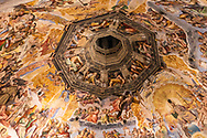 The inside of the Duomo in Florence, Tuscany, Italy.<br /> Picture date: Friday February 22, 2019.<br /> Photograph by Christopher Ison ©<br /> 07544044177<br /> chris@christopherison.com<br /> www.christopherison.com