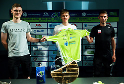 Matej Mohoric, Tadej Pogacar and Diego Ulissi posing with green jersey during press conference prior to the 27th Tour of Slovenia, on June 08, 2021 in Ptuj, Slovenia. Photo by Vid Ponikvar / Sportida