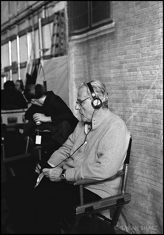 "William Goldman on the set of ""Ghost Town"" (Dir: David Koepp, 2008)"