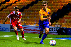 Danny Rose of Mansfield Town looks to get the ball out of danger - Mandatory by-line: Ryan Crockett/JMP - 13/11/2018 - FOOTBALL - One Call Stadium - Mansfield, England - Mansfield Town v Scunthorpe United - Checkatrade Trophy