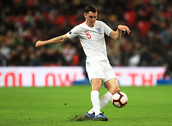 England's Michael Keane in action during the International Friendly at Wembley Stadium, London. PRESS ASSOCIATION Photo. Picture date: Thursday November 15, 2018. See PA story SOCCER England. Photo credit should read: Mike Egerton/PA Wire. RESTRICTIONS: Use subject to FA restrictions. Editorial use only. Commercial use only with prior written consent of the FA. No editing except cropping.