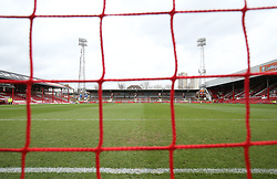 A general view inside Griffin Park before the game between Brentford and Stoke City