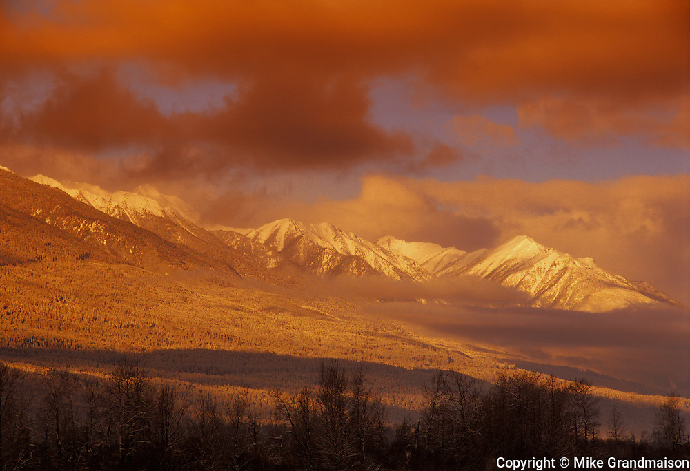 Sunset on the Canadian Rocky Mountains<br /> <br /> Edgewater<br /> British Columbia<br /> Canada