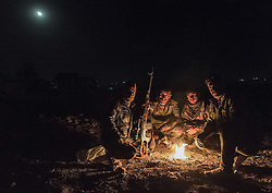 October 20, 2016 - Peshmergas at the frontline having rest near Bashika. (Credit Image: © Bertalan Feher via ZUMA Wire)