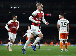 Arsenal's Emile Smith Rowe celebrates scoring his side's second goal of the game