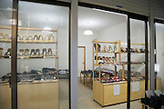 modern boutique style store with traditional Japanese slippers