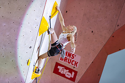 25.06.2021, Kletterzentrum, Innsbruck, AUT, IFSC, Austria Climbing Open 2021, Damen, Vorstieg, Finale, im Bild Janja Garnbret (SLO) // Janja Garnbret of Slovenia during the final of women Lead competition of the Austria Climbing Open 2021 at the Kletterzentrum in Innsbruck, Austria on 2021/06/25. EXPA Pictures © 2021, PhotoCredit: EXPA/ Johann Groder