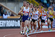 Cameron Boyek competing in the Men's 1500m race heat. The British Championships 2016, athletics event at the Alexander Stadium in Birmingham, Midlands  on Saturday 25th June 2016.<br /> pic by John Patrick Fletcher, Andrew Orchard sports photography.