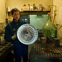 Venice:  Vincenzo and Giovanni Barbini with their sons Nicola and Andrea at their mirror and glass factory..HOW TO BUY THIS PICTURE: please contact us via e-mail at sales@xianpix.com or call our offices in Milan at (+39) 02 400 47313 or London   +44 (0)207 1939846 for prices and terms of copyright..