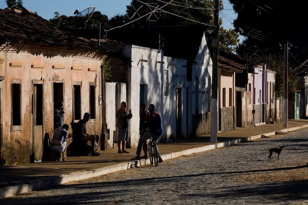 Sao Francisco_MG, Brasil...Fachada de casas no municipio de Sao Francisco, Minas Gerais...The houses facade in Sao Francisco, Minas Gerais. ..Foto: LEO DRUMOND / NITRO
