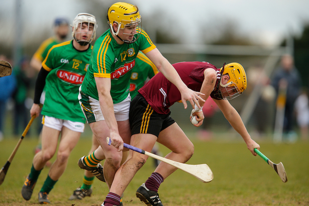 Leinster MHC at Dunganny, Trim, 12th March 2016<br /> Meath vs Westmeath<br /> Peter Farrell (Meath) with James Bermingham (Westmeath)<br /> Photo: David Mullen /www.cyberimages.net / 2016