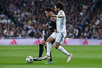 Real Madrid Marcelo and PSG Neymar Jr during Eight Finals Champions League match between Real Madrid and PSG at Santiago Bernabeu Stadium in Madrid , Spain. February 14, 2018. (ALTERPHOTOS/Borja B.Hojas)