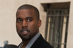 """File photo of File photo dated October 2, 2012 of Kanye West attending the Chanel spring-summer 2013 collection held at the Grand Palais as part of the Paris Fashion Week in Paris, France. Kim Kardashian West spoke out about Kanye West's bipolar disorder Wednesday, three days after the rapper delivered a lengthy monologue at a campaign event touching on topics from abortion to Harriet Tubman, and after he said he has been trying to divorce her.Kardashian West said in a statement posted in an Instagram Story that she has never spoken publicly about how West's bipolar disorder has affected their family because she is very protective of their children and her husband's """"right to privacy when it comes to his health."""" Photo by ABACAPRESS.COM"""