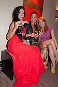 SARAH MOXON; NAOMI LESFORIS; CHARLOTTE CARTER, London Bar & Club Awards.  Annual awards honouring the best of London nightlife, InterContinental Hotel, Park Lane, London, 12 June 2012.
